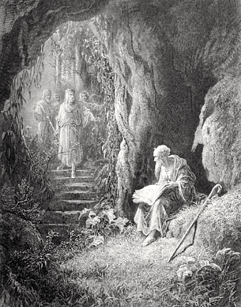 Hugh Merlin 22merlin-vivien22-from-tennysons-22idylls-of-the-king22-illus-by-gustave-dorc3a9-1867