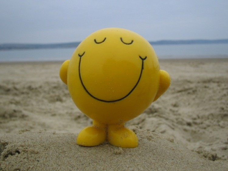 Network of Wellbeing-smiley-face-on-beach