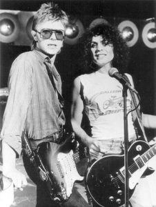 Glasto Bowie and Marc Bolan